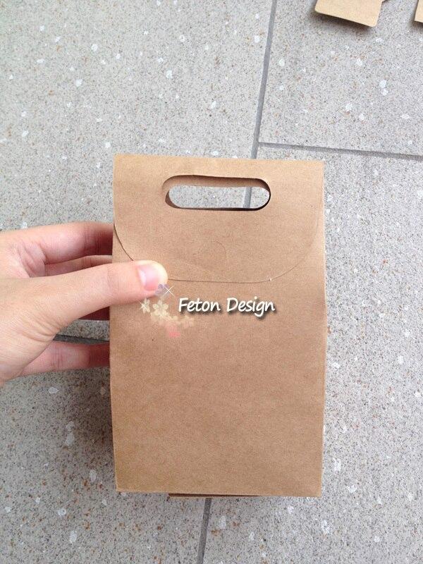 mini brown paper bags favors