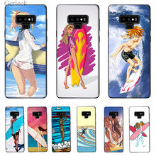 Phone Case Surfing Art Surf Girl Ultra Thin Cartoon Pattern For Galaxy A5 A6 Plus 2017 A8 2018 Note 8 9 Cover(China)