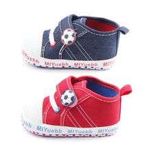 Infant Baby Firstwalker Boys Girls Sneakers Canvas Shoes Football Sports Prewalkers Baby Shoes
