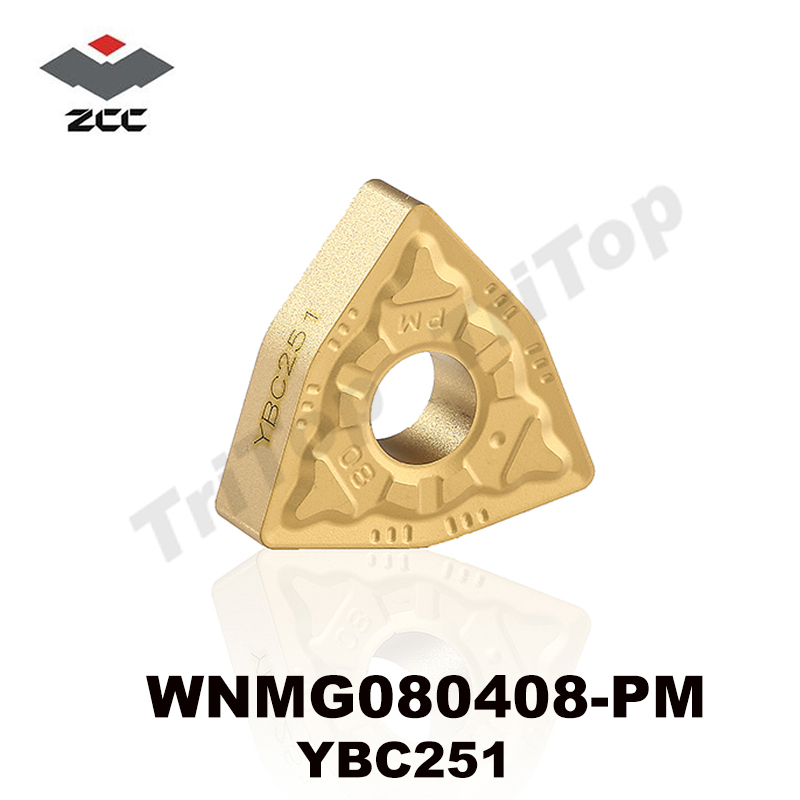 HOT SELL ZCC.CT CUTTING TOOL WNMG 080408 -PM YBC251 کاربید تنگستن تنگستن تعبیه شده TURNING TOOL WNMG080408 WNMG432