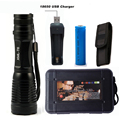5000Lumens Flashlight LED CREE XM-L T6 Torch Camping Light Zoomable Tactical Flashlight Lamp + 1*18650 Battery + USB Charger