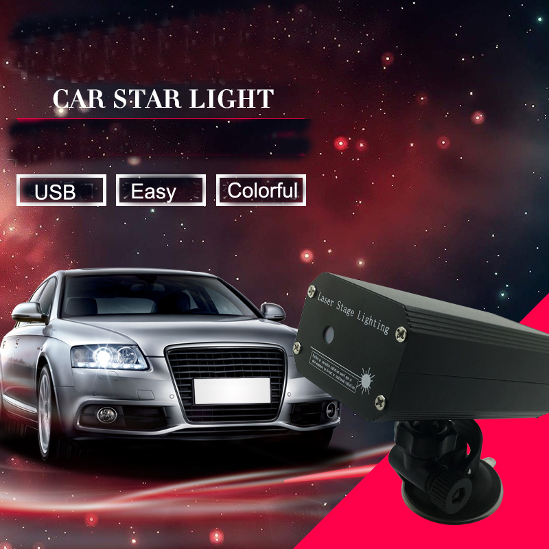 Universal Car Interior Ambient Light Music Rhythm Laser Star Sound Control Lamp 5V styling Led 1 Piece