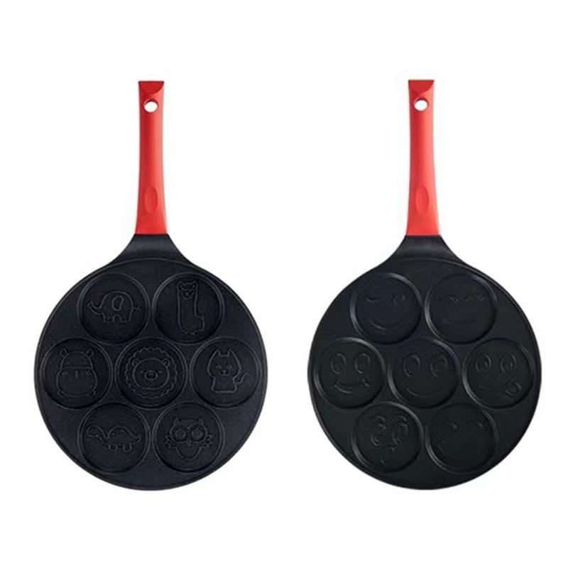 Environmental Smiley Face Pancake Pan Fun Enjoy Mini Pancake Omelette Pan With Double Layer Non Stick Coating Kitchen Use