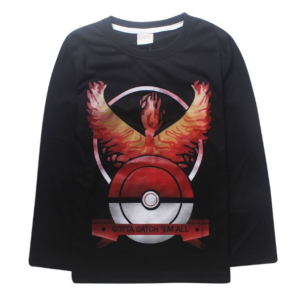 2016 Pokemon Boys full long sleeve t shirt hoodie tees autumn winter spring tshirt blouse sweatshirt Size for 3 4 5 6 7 8 Years (6)