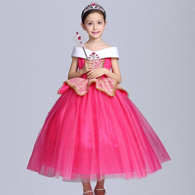abf38a80c Kids Girls Sleeping Beauty Costumes Carnival Halloween Princess ...