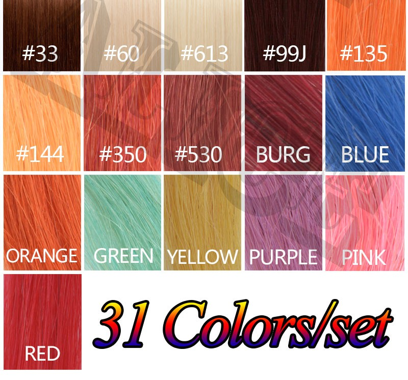 Human Hair Color Chart Extensions 31 Colors Hair Colour Chart Human