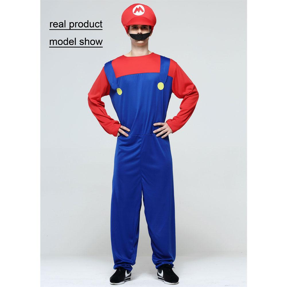 Umorden Helovinas kostiumai Vyrai Super Mario Luigi Brothers - Karnavaliniai kostiumai - Nuotrauka 2
