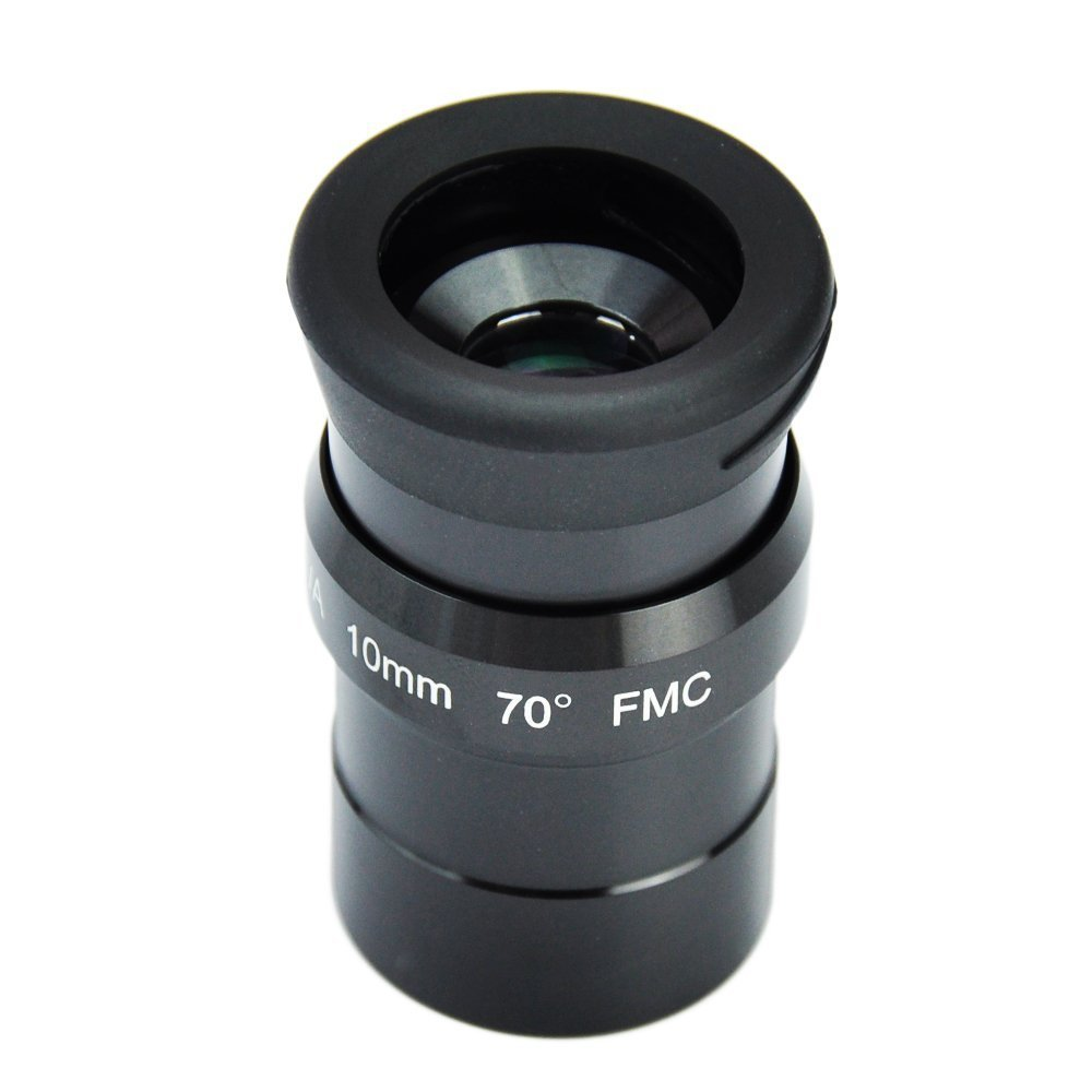 SWA 1.25inch 10mm Super Wide Angle 70 Degree Eyepieces for Astronomical Telescope - Five Elements Fully-coated High-index Glass swa 1 25inch 15mm super wide angle 70 degree eyepieces for astronomical telescope five elements fully coated high index glass