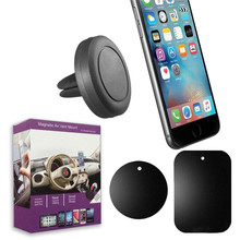 Car Mount Air Vent Magnetic Holder for Phones GPS Dashboard with Retail Box