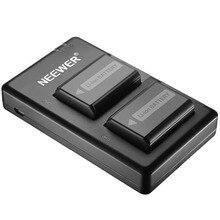 Neewer NP-FW50 зарядное устройство для камеры Набор для sony(2-Pack сменные батареи, 1100 mAh, микро USB вход двойное зарядное устройство