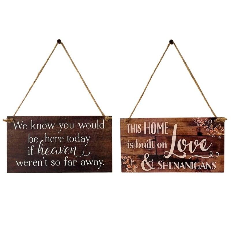 Message en bois lettre conseil industriel mariage Cool Plaque café Bar Pub mur décor à la maison Letterbord Plaque cadeau pendentif étiquette
