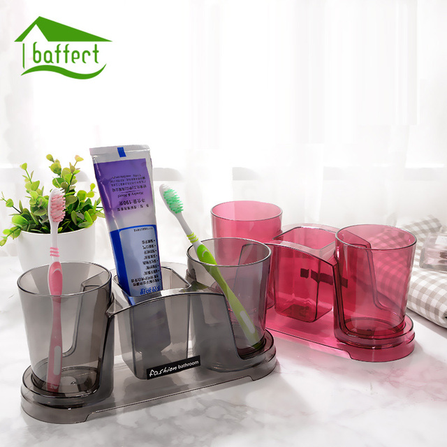 Portable Toothbrush Holder Sets Bathroom Sets Toothpaste Tower Toothbrush Cup Storage Box Tooth Brush Household