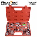 Flexsteel Top Quality Alloy Steel Tap and Die Set Metric Tap Die Set For Professional Use Hardness for Taps and Dies:58-62HRC