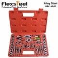 Flexsteel cintas Métricas Tap y Juego de Troqueles de Acero de Aleación de Alta Calidad Tap y Juego de Troqueles Para Uso Profesional de La Dureza de los Grifos y muere 58-62HRC