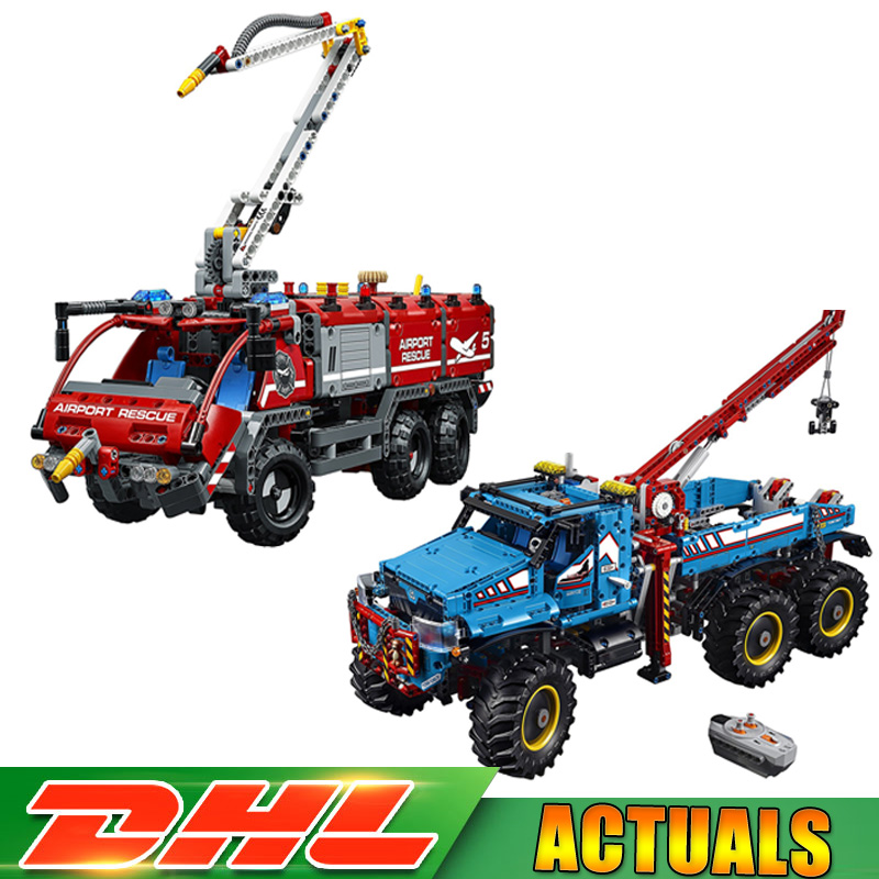 Lepin Technic Series Set 20055+20056 Ultimate All Terrain Educational Building Blocks Bricks Compatible 42070 42068 LegoINGlys lepin technic 20055 the rescue vehicle set 1180pcs building blocks toys for children bricks compatible legoing technics 42068