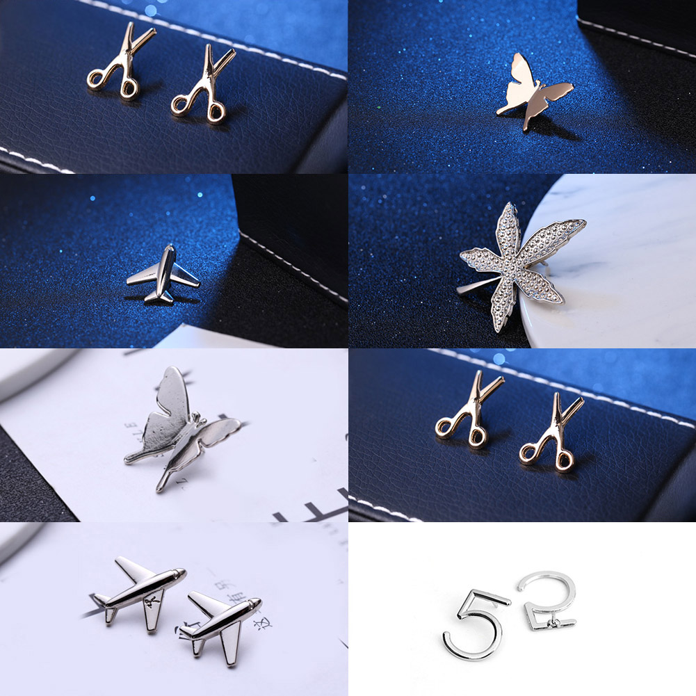 Vintage Simple Alloy DIY Leaf Plane Brooch Breastpin Gold Silver Men's Collar Lapel Pins Suit Accessories Jewelry For Women Gift 6