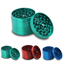 Hot!Saingace home New 4-layer Aluminum Herbal Herb Tobacco Grinder Four Pollen Screen Filter Smoke Grinders Quality May23
