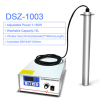 DSZ 1003 Input Industrial Ultrasonic Cleaner Shock Rod Stick 150W Power Adjust Oil Rust degreasing Lab Ultrasound washer