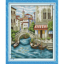 Everlasting love Natural scenery Chinese cross stitch kits Ecological cotton printed 11 14CT DIY New  Christmas decorations gift