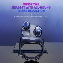 TWS 2 in 1 Bluetooth 5.0 Wireless Earphone Sport Handsfree Earbuds Headset With Smart Wristband Watch Fitness Tracker bracelet
