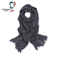 Classic Style Brand Slender Striped Printing Scarf Cotton Scarf Men Spring Autumn Multifunctional Soft Warm Shawls