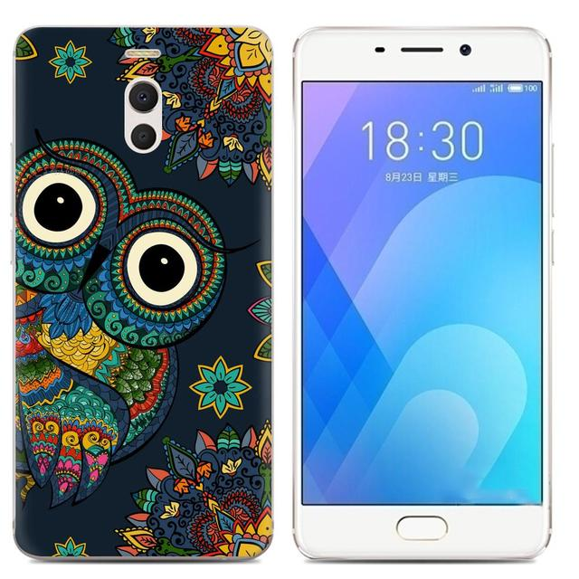 Drop Shipping TPU Soft Phone Case for Meizu M6 Note 6 5.5-inch Fashion Pattern Colorful Painted 1