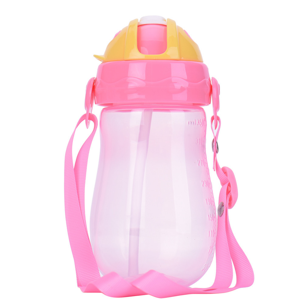 New 350ml Portable Kids Drinking Cup with Straw BPA Free PP Silicone Todder Child Drink Bottles Sloid Feeding Copo Tazas