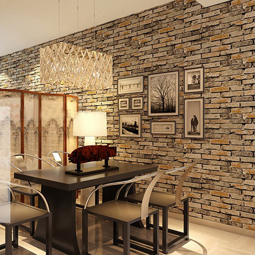 ... Red Wallpaper Stone Brick Wall Paper Vintage Waterproof Living Room  Background Wall Home Decor Papel De ... Part 96