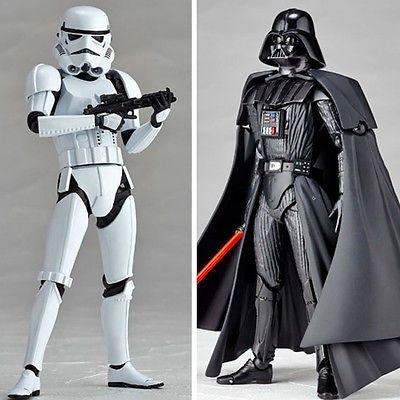 2pcs Black Star Wars Series Darth Vader Stormtrooper White Soldier 6.5 Toy Gift maikii star wars stormtrooper 16gb usb 2 0