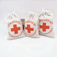 10pcs Wedding Hangover Kit Bags 10*15cm Burlap Jute Wedding