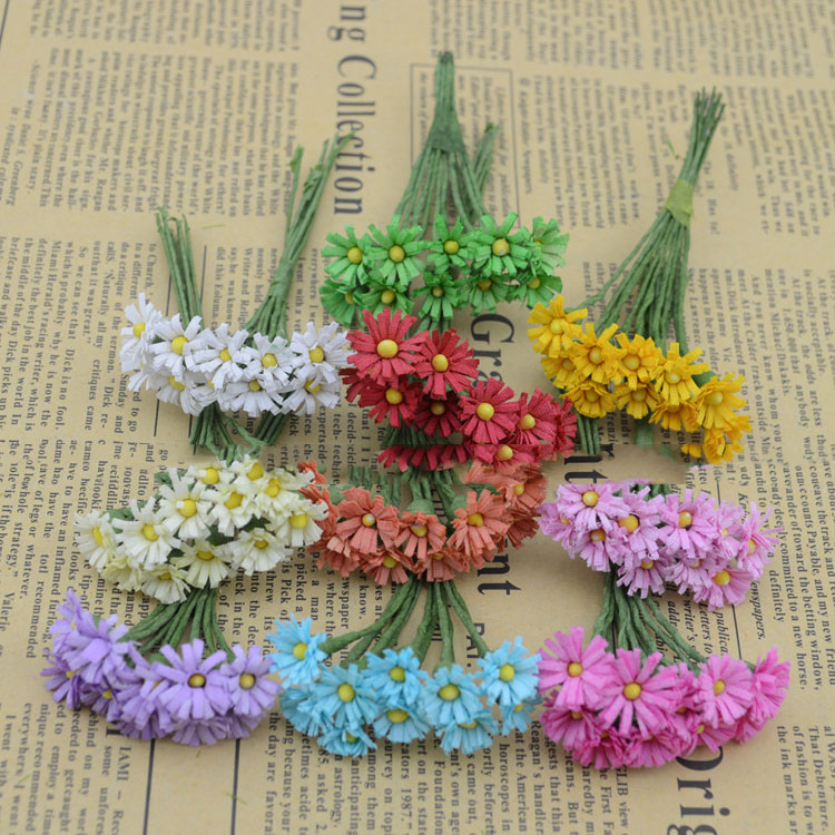 artificial flowers fake flowers simulation flowers small bouquet of silk mini gerbera daisies small diy materials wholesale deco