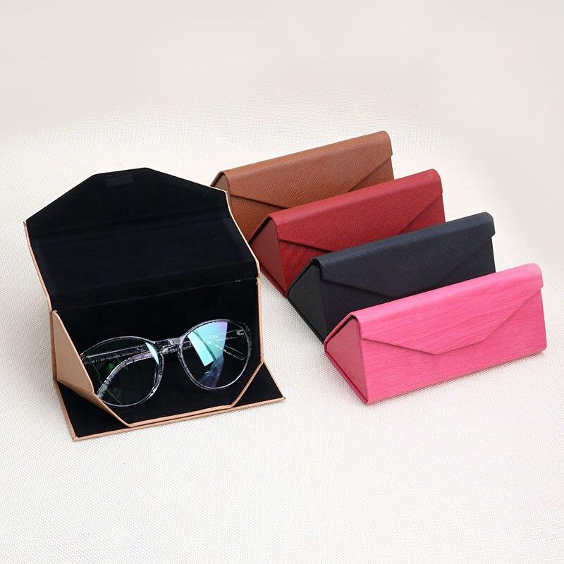 54419a10a16b3 1 PC Protable Luz Triangular Dobra Óculos Óculos Caso óculos de Sol Caixa  de Protetor Loja Online