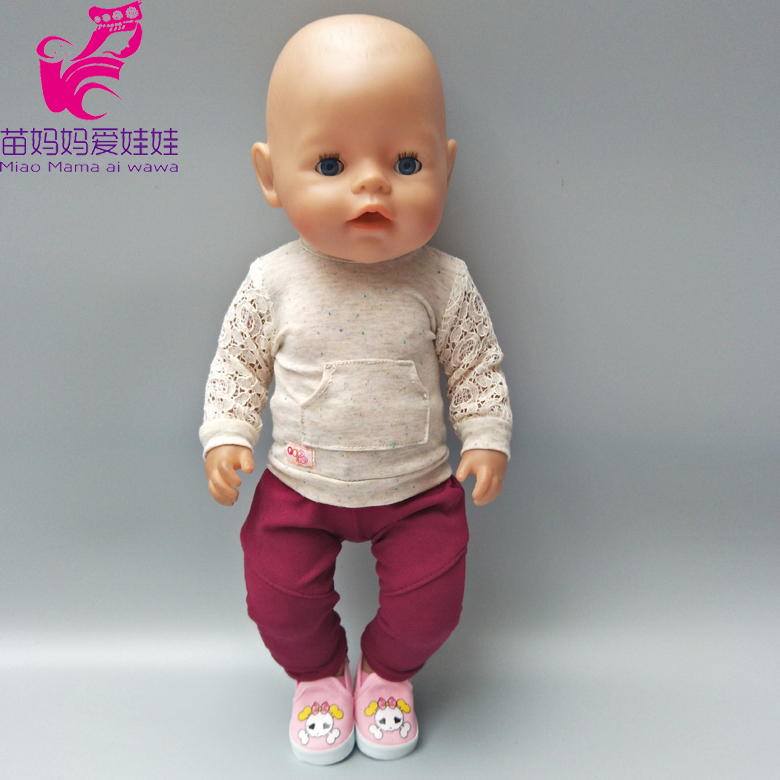 18 inch dolls clothes daily casual outfit set Fit for 43cm born Baby Doll clothes children