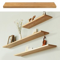 Wooden Floating Shelves Multifunctional Pine Wood Wall Shelf 60cm 90cm 120cm Modern Display Rack Home Decor