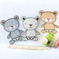 5 pcs/set Cartoon Bear clothes cloth patch Iron On embroidery Patches garment Appliques Accessory