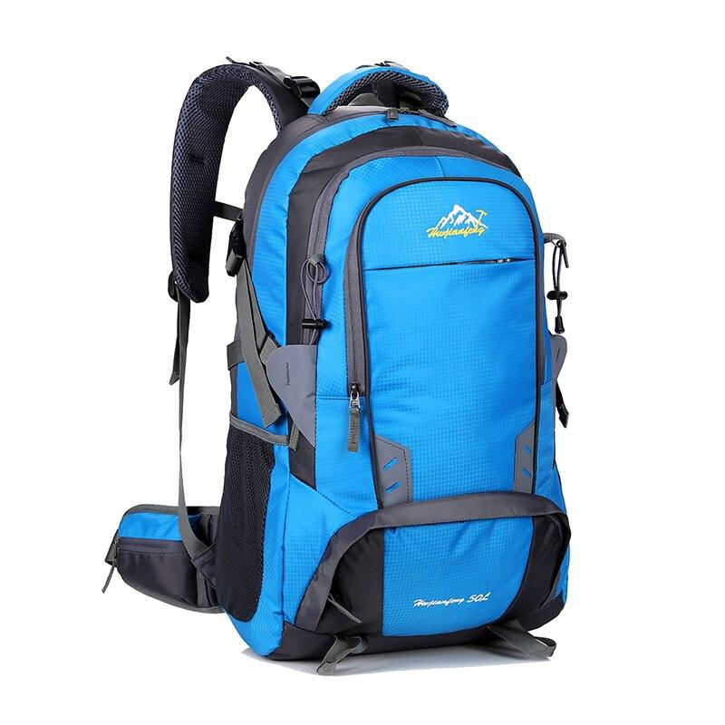 50L sac d'escalade étanche terylène matériel unisexe voyage Camping Sport sac à dos Camping en plein air randonnée sacs à dos