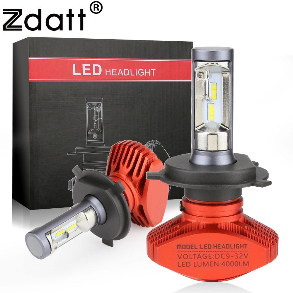 все цены на Zdatt H4 H7 Led H11 H1 9005 HB3 9006 HB4 9003 HB2 H3 H8 H9 Headlight Bulb Car Light 24V 12V Automobiles 6000K CSP 80W 8000LM/Set онлайн