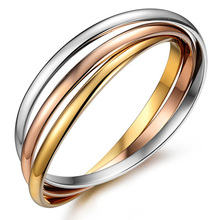 MMS 3pcs/set Mix 3 Colors Stainless Steel Bangle for Women Wedding and Party Causal Dress Fine Jewelry Accessories