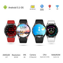 Volemer KW88 3G WIFI Smartwatch Cell Phone All-in-One Bluetooth Smart Watch Android 5.1 SIM Card GPS Camera Heart Rate Monitor