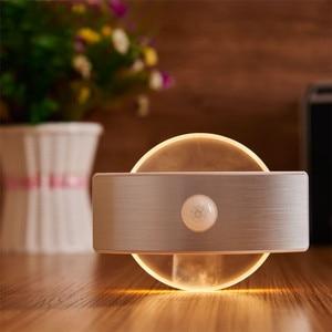 Image 5 - LED Motion Wall light bateria AA akumulatorowa lampa LED czujnik lampka nocna wewnętrzne światło bezpieczeństwa do schodów kuchnia korytarz szafa