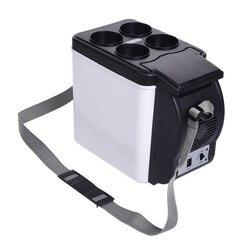 Мини-холодильник для подогрева автомобиля, 6 л, 12 В, автомобильная морозильная камера, портативная многофункциональная, антигниющая, сохран...