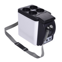 Мини-холодильник 6L с подогревом для автомобиля, 12 В, холодильник в машину, портативный многофункциональный, антигневый, сохраняет тепло