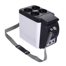 Mini 6L Car Warming Refrigerator Heat Fridge 12V Auto Freeze