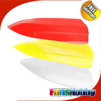 Tenshockミニエコタンクピーターパン剣士ガラス繊維ボート船体白/黄/赤