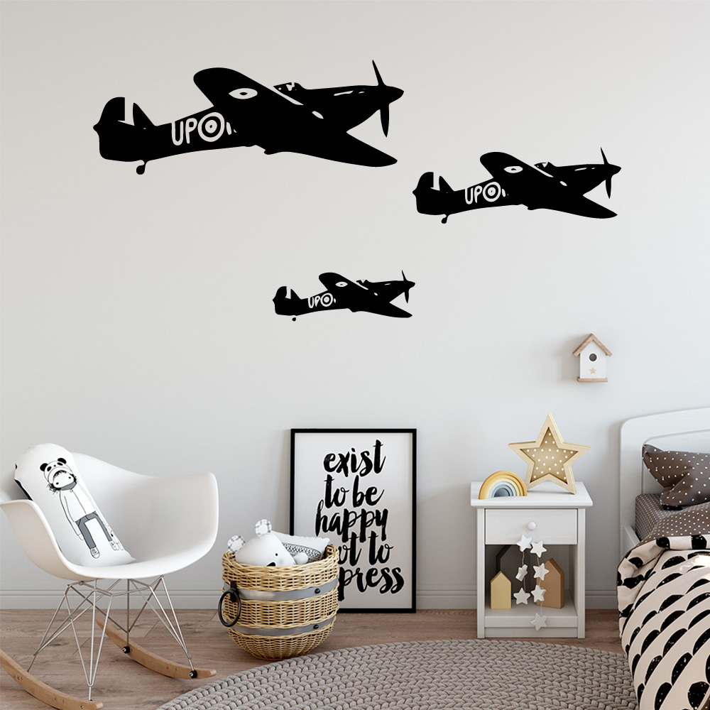 Cartoon Flight Wall Sticker Decal Living Room Removable Mural Decorative Vinyl Decoration Accessories Murals in Wall Stickers from Home Garden