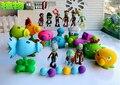19 Novo Estilo Popular Jogo Plants vs Zombies Peashooter PVZ PVC Action Figure Brinquedos Modelo 10 CM Plants Vs Zombies brinquedos