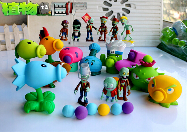 19 Style New Popular Game PVZ Plants vs Zombies Peashooter PVC Action Figure Model Toys  10CM Plants Vs Zombies Toys new 10cm kids toys pvz plants vs zombies peashooter pvc action figure model toy plants vs zombies toys for baby gift