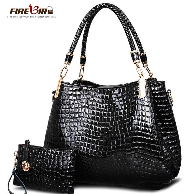 Bag ladies leather 2016 Crocodile Women Handbag Shoulder Bags Lady's Vintage Messenger Bags Wallet bolsos bag H344