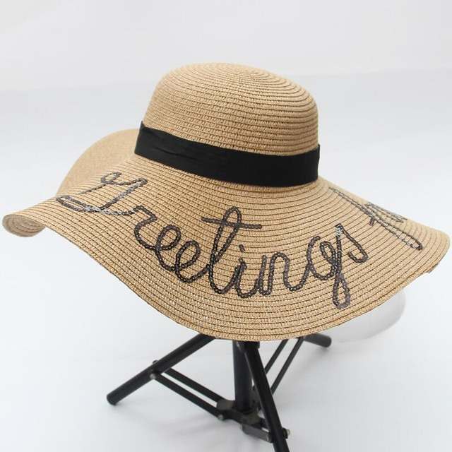 Sun Hat Large Brimmed Big Straw