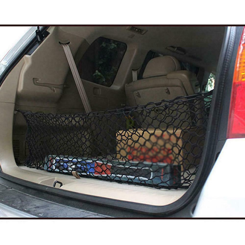 Car Accessories Envelope Style Trunk Cargo Net Universal Practical Durable Double Layer Envelope Style Trunk Elastic Net